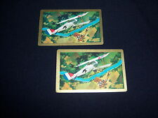(2) single WORLD WAR I DOGFIGHT playing cards-VINTAGE-aerial COMBAT aviation WAR