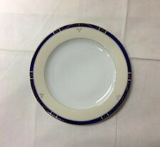 """PHILIPPE DESHOULIERS """"SCALA BLUE"""" BREAD / BUTTER PLATE 6 1/8"""" LIMOGES FRANCE NEW"""