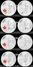 Canada 2012-2013 War of 1812 25 Cent Set Quarters MINT
