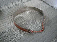Mid-Century Vintage 50's 60's Signed Renoir Smooth Wide Copper Metal Belt