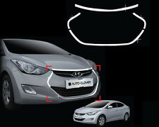 Chrome Radiator Grill Wing Garnish Trim For 11-15 Hyundai Elantra : Avante MD