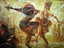 Huge Oil painting Gansu province Dunhuang fairy dancing young palace girls