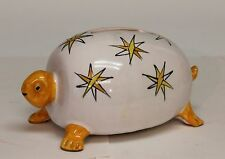 Vintage Mancioli MCM Italian Art Pottery Turtle Bank Animal Figure Raymor