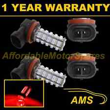 2X H8 RED 60 LED FRONT MAIN HIGH BEAM LIGHT BULBS HIGH POWER KIT XENON MB500401