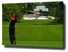 TIGER WOODS CANVAS PAINTING ART ... PRINT POSTER PHOTO GOLF  DRIVER STINGER SHOT