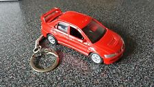 Diecast Mitsubishi Evolution VIII 8 Red Toy Car Keyring