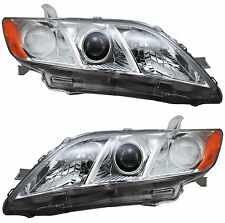 Pair Set Left & Right Toyota Camry 07-09 Headlights Headlamps