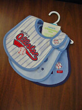 CARTERS BOYS 3 SPORTS THEME BLUE BIBS SET NWT