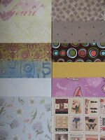 "12 Mixed Designs 5 Papers 6""x 6"" For Cardmaking & Scrapbooking"