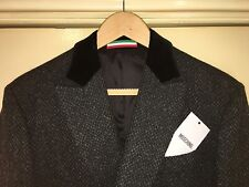 MOSCHINO MEN'S 100% WOOL OVERCOAT SIZE EU48/UK38 BNWT