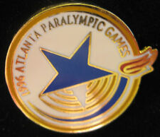 Atlanta 1996 Paralympic Games Pin - White, Blue & Gold Colored