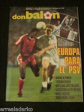 DON BALON 659 EUROPA  PSV EINDHOVEN-REAL MADRID POSTER CAMPEON 87-88 - PLATINI