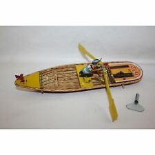 PAYA ROWING MAN BOAT WIND UP TIN TOY MINT LIMITED EDITION RARE