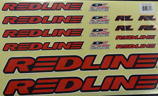 Redline Bike  Frame & Fork Red Stickers Decal Replacement Set for BMX Bicycle