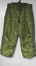 NEW MEDIUM US MILITARY USMC / ARMY COLD WEATHER PANTS FIELD LINER THERMAL OD US