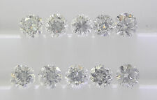 10pc 0.8-1mm 0.04cts Total Natural Loose Diamond Lot VS2-SI1 Clarity F Color