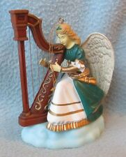 "ANGEL WOMAN PLAYING HARP 4"" CHRISTMAS ORNAMENT, Enesco"