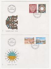 Schweiz-1976,1977,1978,1979 - 4 verschiedene FDC Briefe Europa - Ersttagsstempel