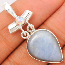 Angelite 925 Sterling Silver Pendant Jewelry ANGP244