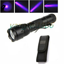 3W UltraFire WF-502B UV 395NM Ultraviolet LED Flashlight Torch 18650 + Holster