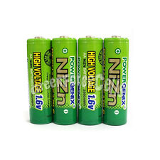 4 pcs 2500mWh 1.6V Volt AA 2A NiZn Rechargeable Battery PowerGenix