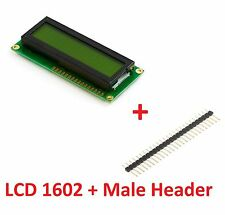 16X02 LCD 1602 16x2 LCD HD44780 DISPLAY GREEN DIY ARDUINO MCU + Free Male Header