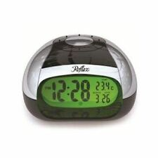 Reflex Black And Silver Digital Talking Alarm Clock With Temperature 908-3103