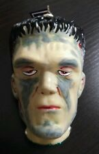Slavic Treasures Blown Glass Halloween Christmas Ornament Flat Top Frankenstein