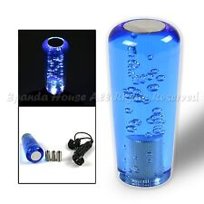 FOR CHRYSLER DODGE!M8 THREADED! 10CM GLOWING BLUE BUBBLE CRYSTAL SHIFT KNOB USA