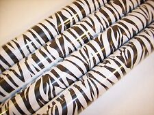 Zebra  Wrapping Paper Animal  Gift Wrap  Black White Stripes 21Ft. 35 Sq 1 Roll