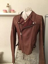 HIGH USE Girbaud Luxus Lederjacke I44 F40 D38 federleicht braun Leather Cuir neu