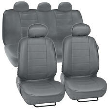ProSyn Gray Leather Auto Seat Cover for Honda Civic Sedan Coupe Full Set