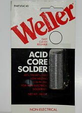 Weller Acid Core 40/60 Solder non-electrical AC40 Low Melting  NOS