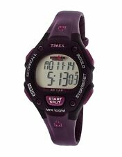 NEW TIMEX IRONMAN PURPLE RESIN BAND,INDIGLO,30-LAP,MID-SIZE WATCH T5K651