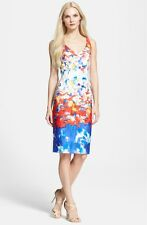 Milly Watercolor Portrait Dress cotton imported fabric NWT 4 $395.00