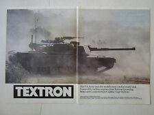 4/1989 PUB TEXTRON LYCOMING TURBINE ENGINE M1 ABRAMS MAIN BATTLE TANK CHAR AD