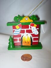CHRISTMAS TREE Ornament WOOD WOODEN HEARTH STOCKINGS HOME HOUSE FIREPLACE DECOR