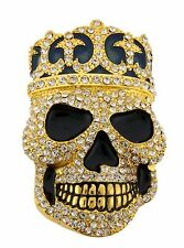 Crowned Skull Belt Buckle Gothic tribal Tattoo Celtic Bling Iced Out Rhinestone