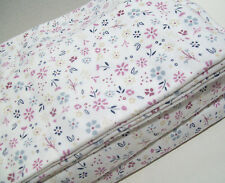 Cuddl Duds Heavyweight Multi Colors Purple Flower Floral Flannel Queen Sheet Set
