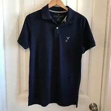 American Eagle Mens Short Sleeve Classic Fit Polo Rugby Golf Shirt Size M New