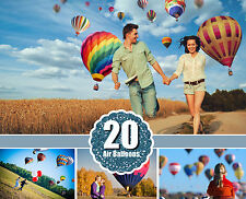 20 hot air balloon Photo Overlays, aerostat, Photography Overlays, png file