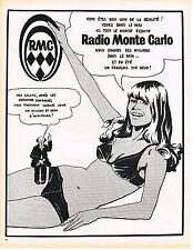 PUBLICITE  1971   RMC   radio nous sommes des millions dans le midi