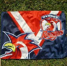 SYDNEY ROOSTERS Flag Official NRL Game Day flag 850 x 600mm NEW!