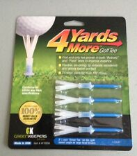 "4 Four Yards More 3 1/4"" Golf Tees 4 pack BLUE"
