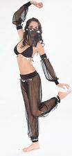 Sexy Black Belly Dancer Arabian Princess Jasmine Halloween Costume 6 8 10