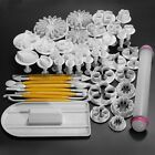 New 46pcs Sugarcraft Cake Decorating Fondant Icing Plunger Cutters Tools Mold -H
