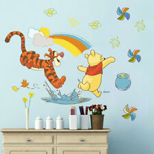 Winnie the Pooh Rainbow Wall Stickers Removable PVC Decals Mural DIY Room Decor