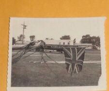 RARE Vintage 1960's B/W Photo Circus Vehicle in Background Union Jack Flying