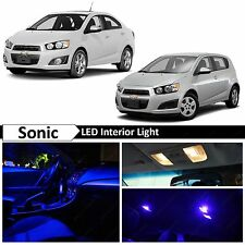 8x Blue Interior LED Light Package Kit for 2012-2015 Chevy Sonic + TOOL