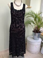 GORGEOUS PHASE EIGHT TAPEWORK BLACK DRESS SIZE 10 OCCASION PARTY
